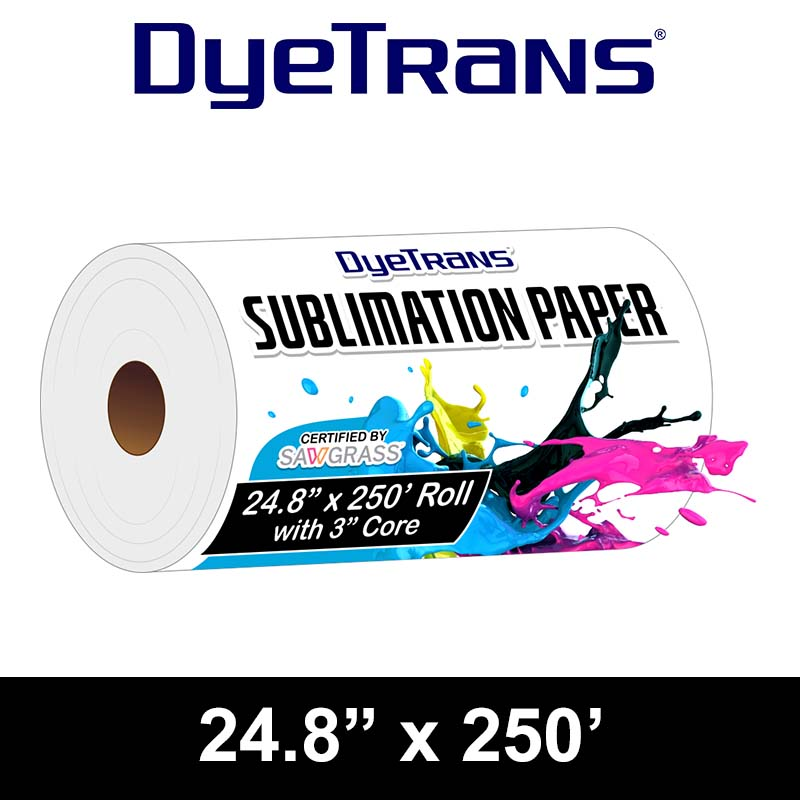 24.8x250 DyeTrans Hi-Res Sublimation Paper