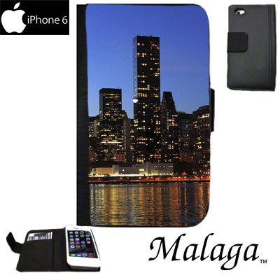Malaga iPhone 6/6s Notebook Style Case - Black