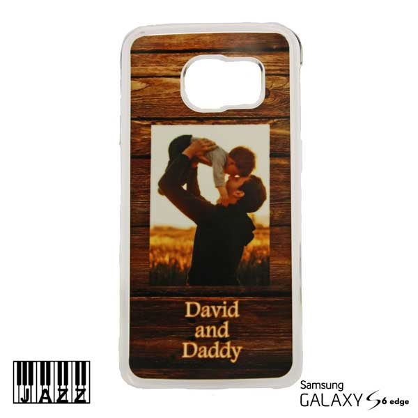 Clear Jazz Plastic Galaxy S6 Edge Case