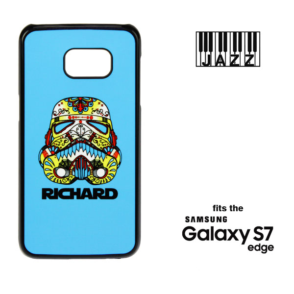 Samsung Galaxy S7 EDGE Jazz Phone Case - Black