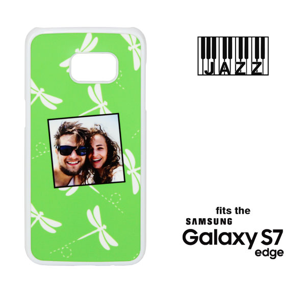 Samsung Galaxy S7 EDGE Jazz Phone Case - White