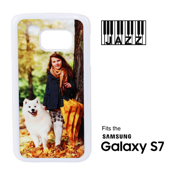 Samsung S7® White Jazz™ Plastic Case