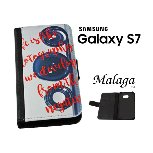 Samsung Galaxy S7® Malaga™  Sublimation Blank Phone Case - Black