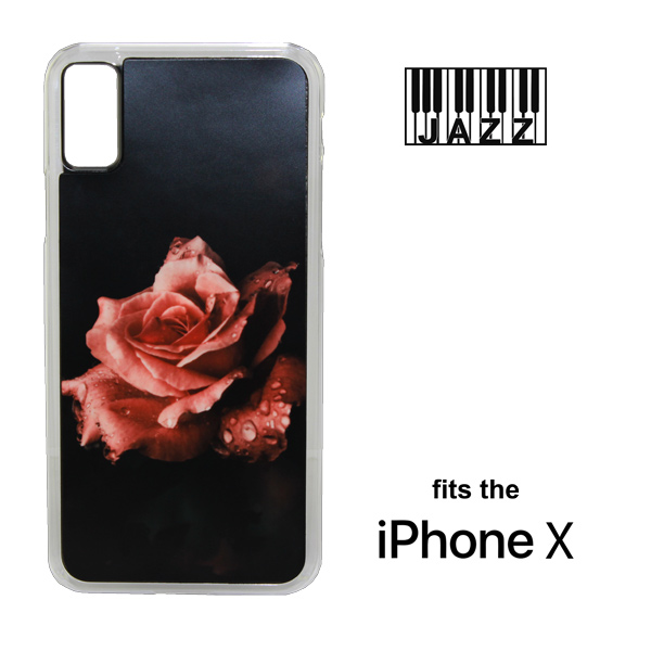 iPhone X Jazz Plastic Case - Clear