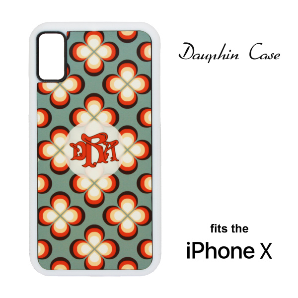 iPhone® X Dauphin™ Hard Rubber Case - White