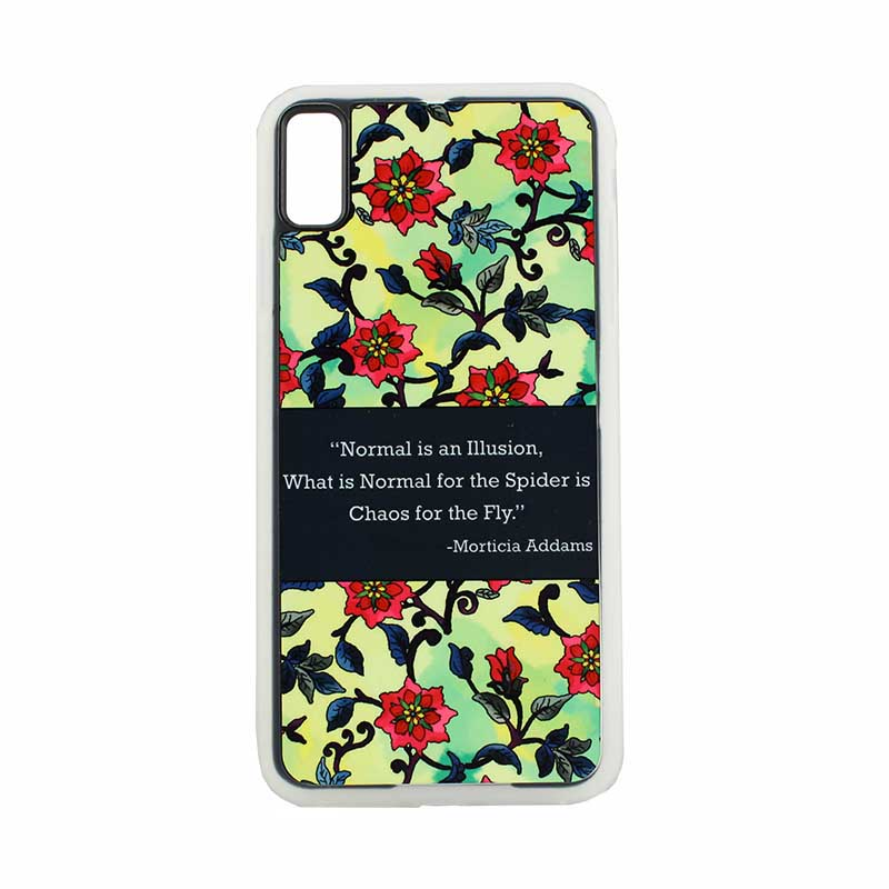 Dyetrans Sublimation Blank iPhone XS Max Dauphin Rubber Case - Clear