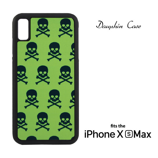 Dyetrans Sublimation Blank iPhone XS Max Dauphin Rubber Case - Black