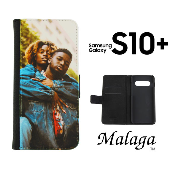 Dyetrans Sublimation Blank Samsung S10 PLUS Folding Malaga Notebook Case - Black