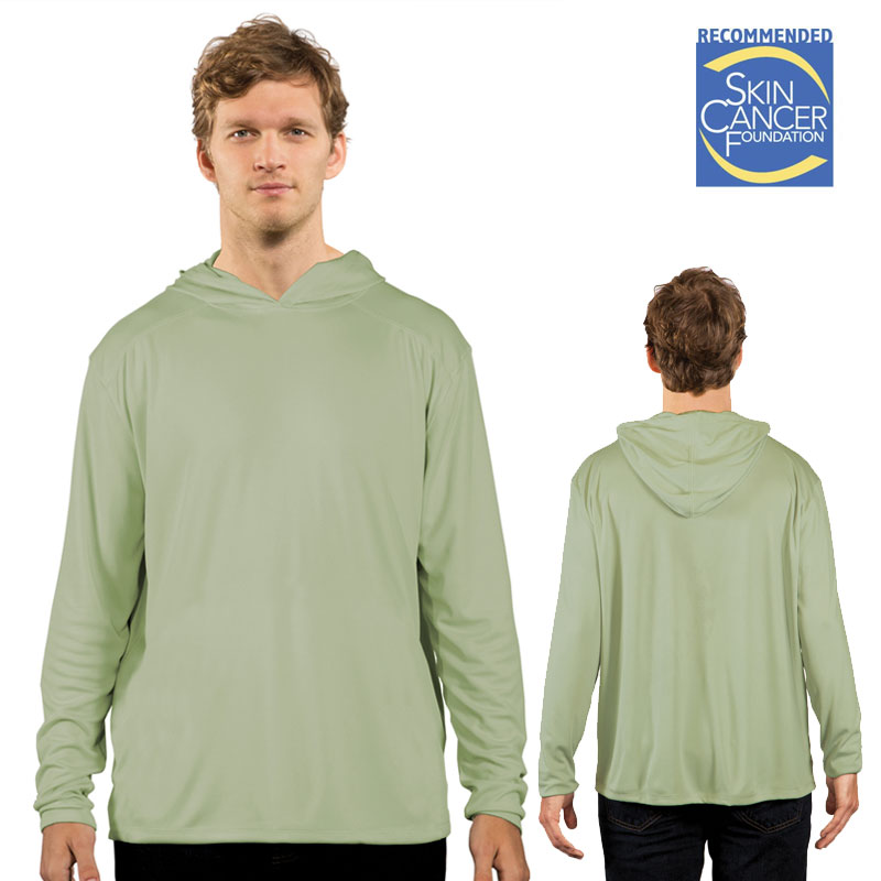 Solar Shirt Hoodie - No Pocket - Adult - Sage