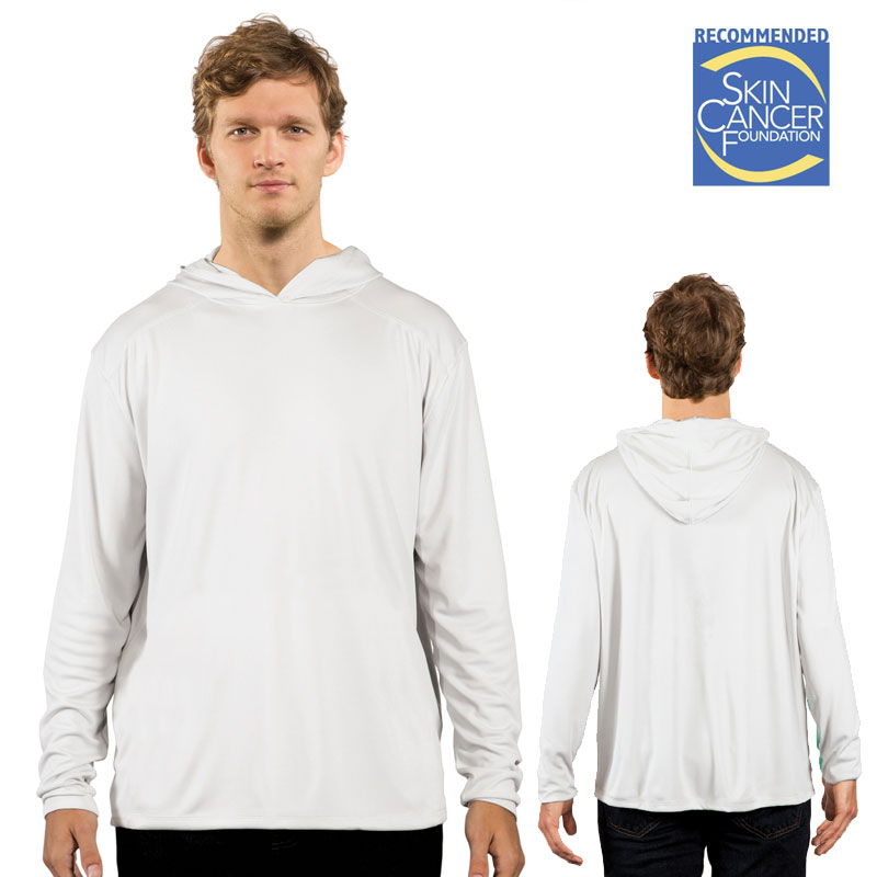 Sublimation Solar Hoodie Shirt - Adult - White