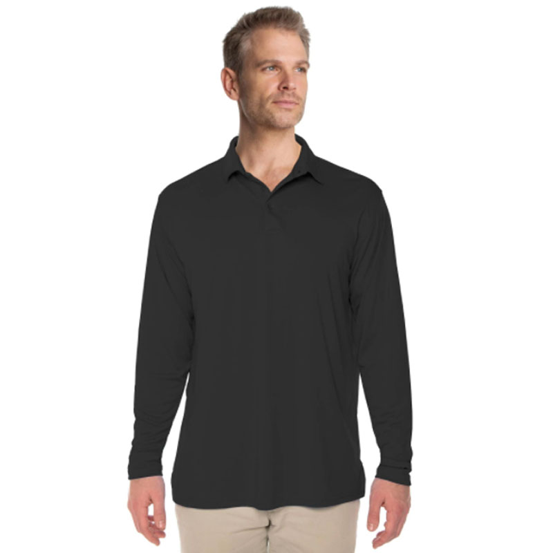 Vapor® Solar Long Sleeve Polo - Carbon
