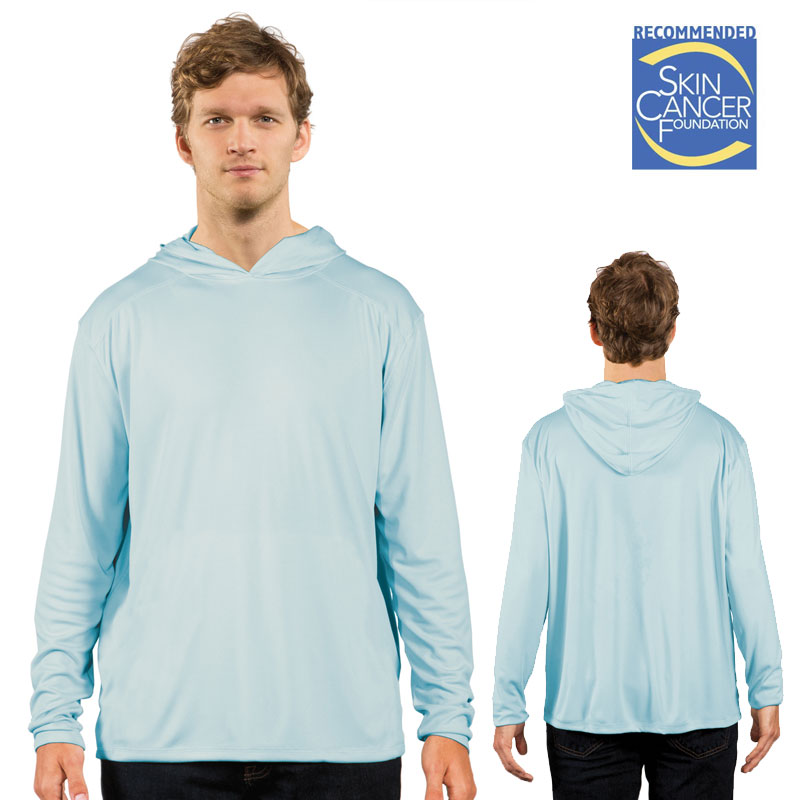 Solar Shirt Hoodie - No Pocket - Arctic Blue