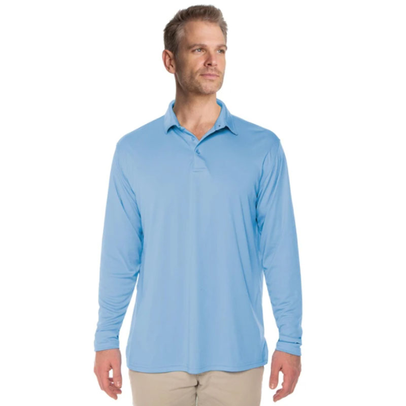 Vapor® Solar Long Sleeve Polo - Columbia Blue