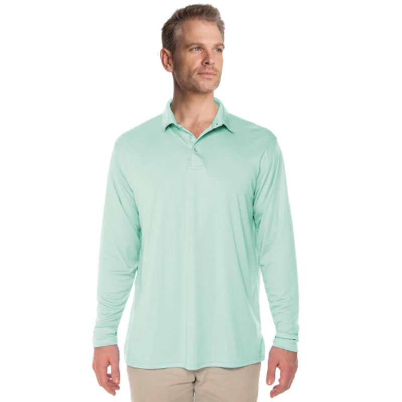 Vapor® Solar Long Sleeve Polo - Sea Grass