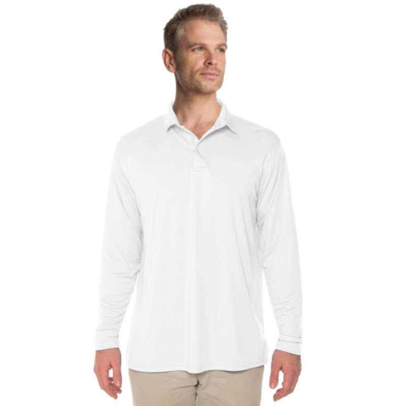 Vapor® Solar Long Sleeve Polo - White