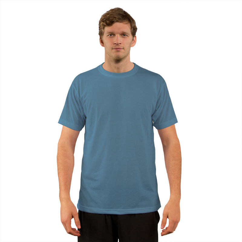 Vapor® Hydro Blue Basic T Shirt for Sublimation