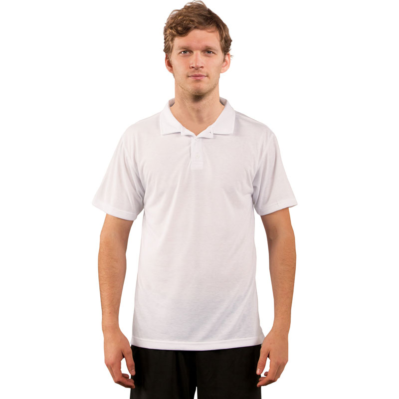 Sublimation Vapor® Performance Adult Polo - White