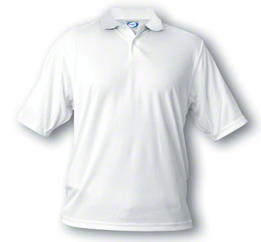 Adult Small Vapor™ Basic Polo - Brighter White