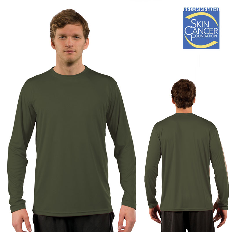 Vapor Solar Long Sleeve Tee- Adult - Hunter Green