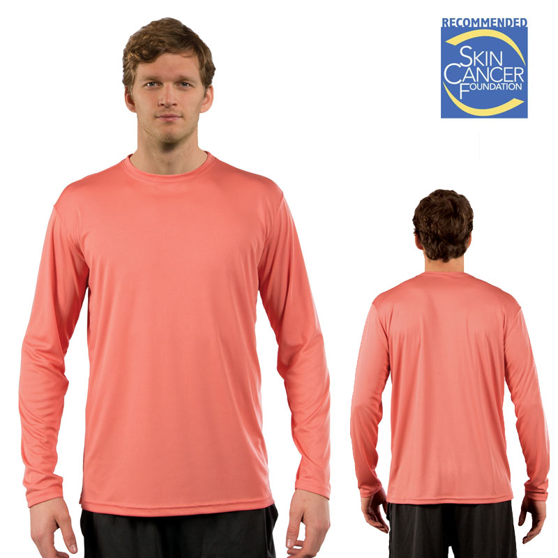 Sublimation Solar Long Sleeve Tee - Adult - Salmon