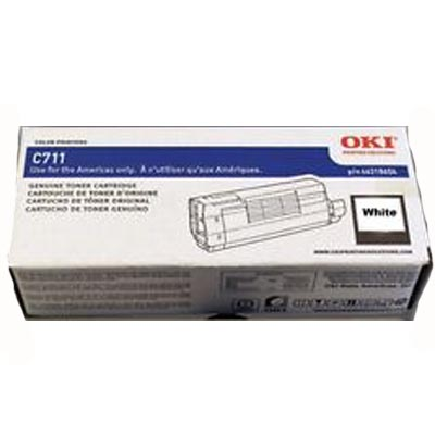 Okidata C711wt Toner Cartridge - White