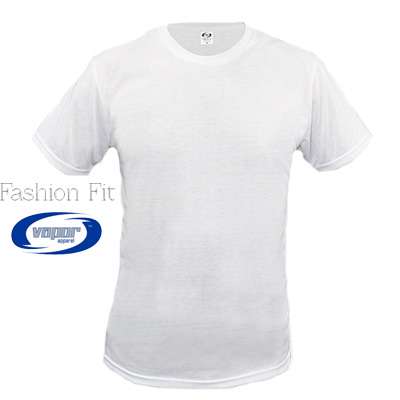Sublimation Fashion Fit Crew Neck S/S Tee - White