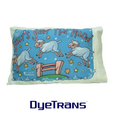 DyeTrans Sublimation Blank Basic T Fabric Pillow Case - 11.75 x 18