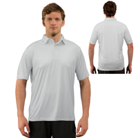 Vapor® Apparel Solar Adult Polo - Pearl Gray