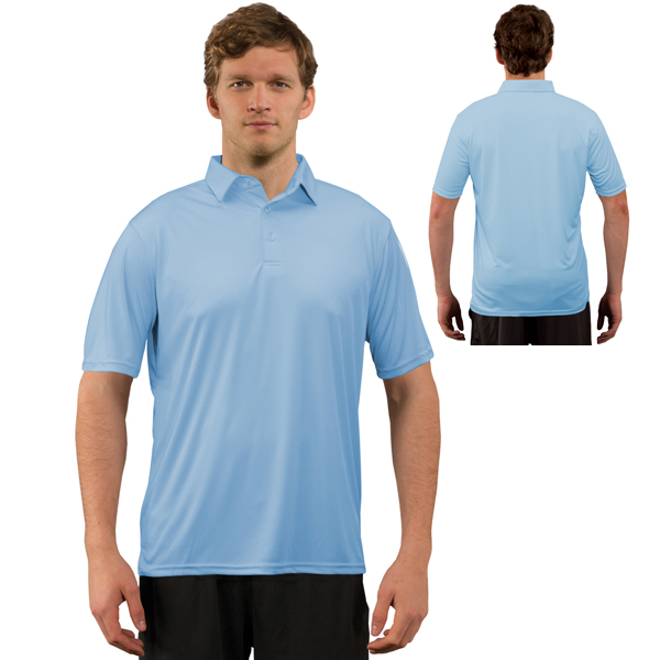 Vapor® Apparel Solar Adult Polo - Columbia Blue