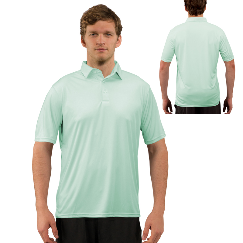Vapor® Apparel Solar Adult Polo - Seagrass
