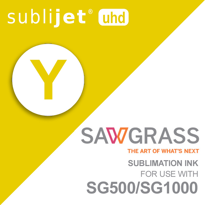 SG500/SG1000 SubliJet UHD Ink Carts - 31mL - Yellow