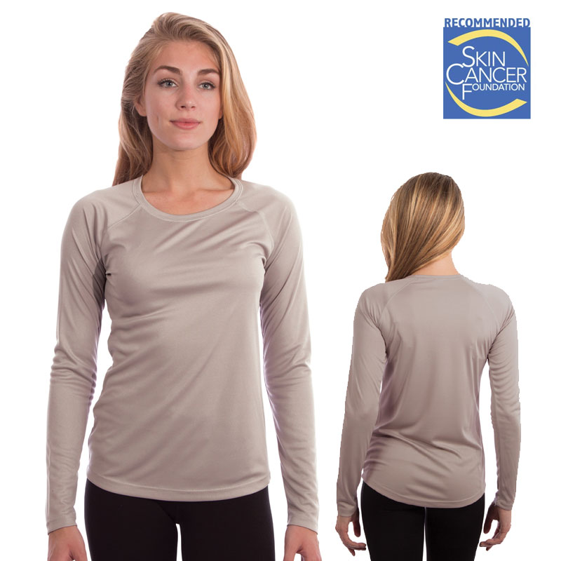 Vapor Ladies Long Sleeve Solar T - Athletic Gray