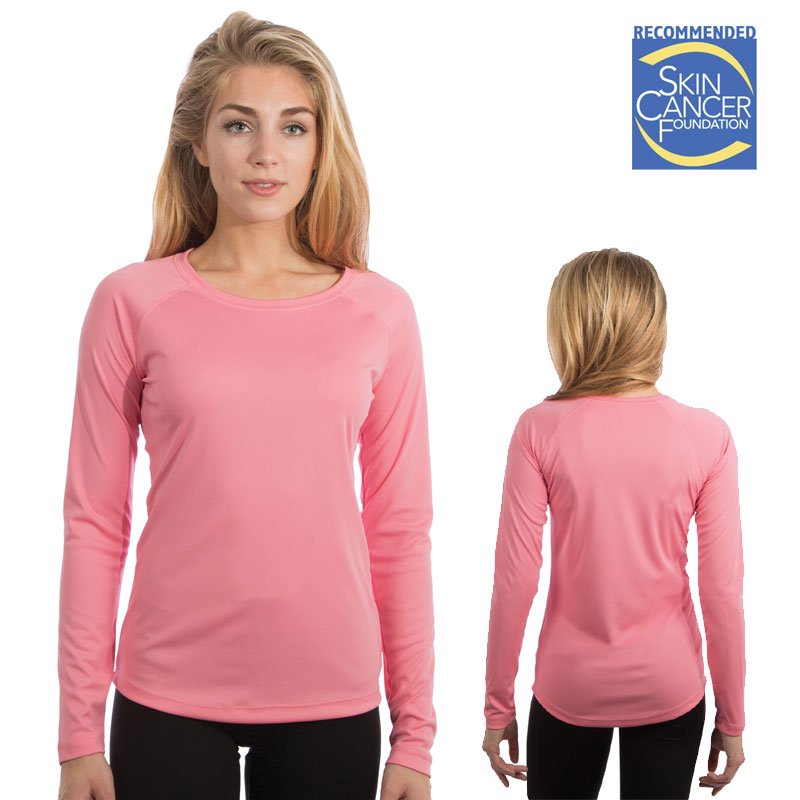 Vapor Ladies Long Sleeve Solar Tee - Pretty Pink