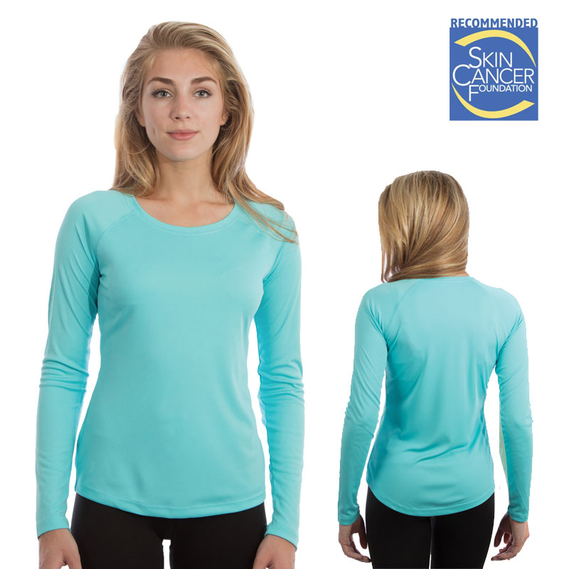 Vapor Ladies Long Sleeve Solar Tee - Water Blue
