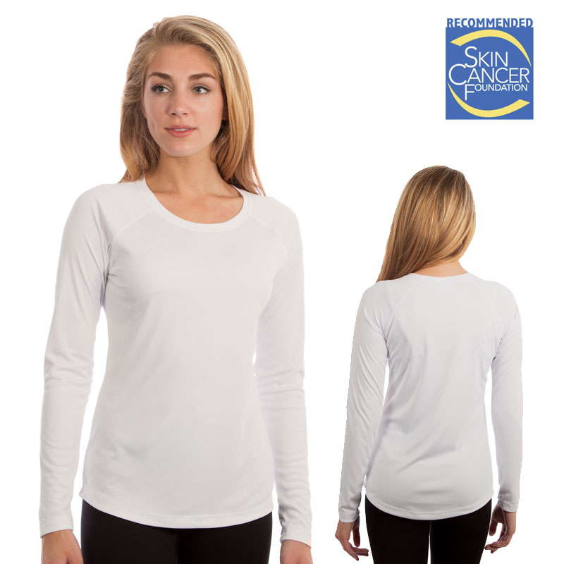 Vapor Ladies Long Sleeve Solar Tee - White
