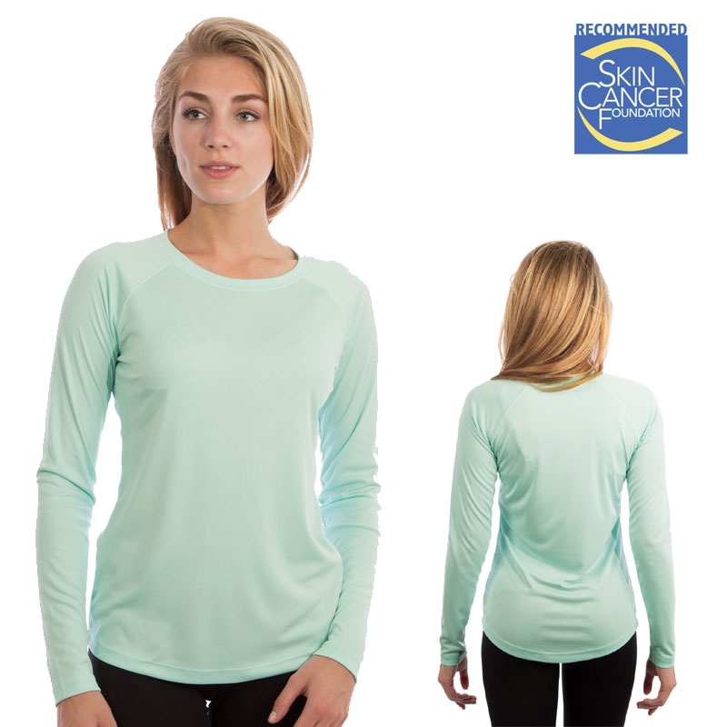 Vapor Ladies Long Sleeve Solar T - Seagrass