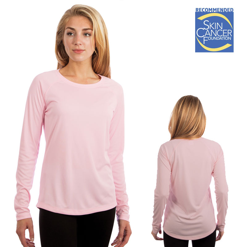 Vapor Ladies Long Sleeve Solar T - Pink Blossom