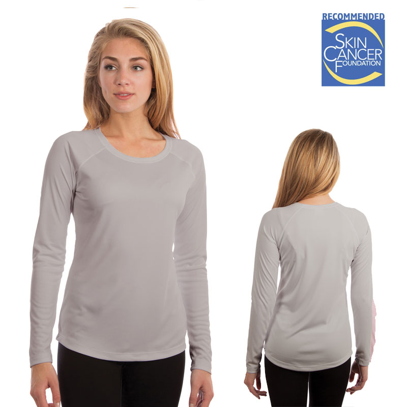 Vapor Ladies Solar T Long Sleeve - Pearl Gray