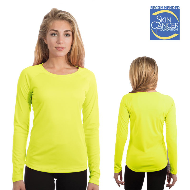 Vapor Ladies Solar T Long Sleeve - Safety Yellow