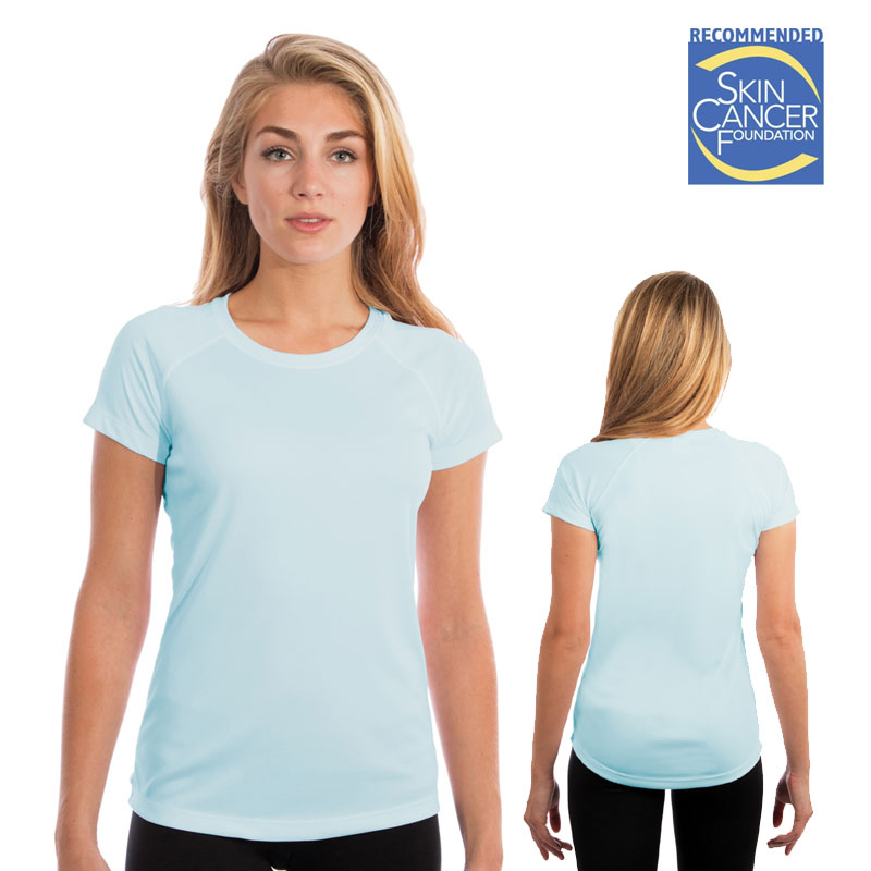 Ladies Vapor Short Sleeve Solar Tee - Arctic Blue