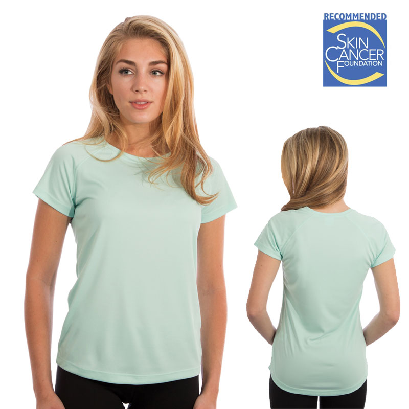 Ladies Vapor Short Sleeve Solar Tee - Seagrass
