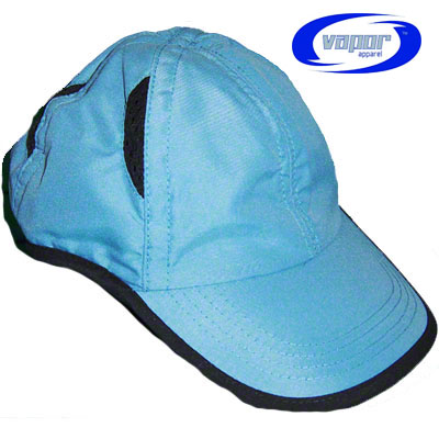 Vapor® Sublimation Ready BackCountry Cap - Blue with Black Trim