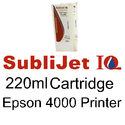 SubliJet IQ Epson 4000 Photo Black Ink Cartridge