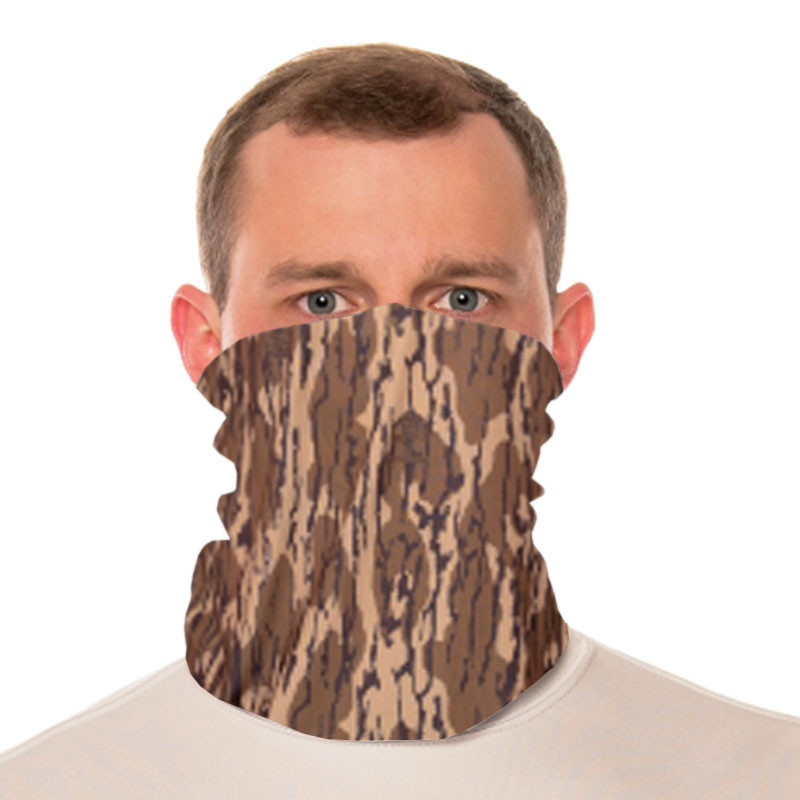 Vapor® Solar™ Fabric Neck Gaiter Endless Face Mask - Mossy Oak Bottomland - 9.25x17.5