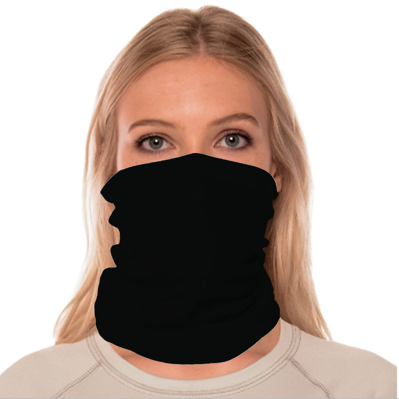 Vapor® Solar™ Fabric Neck Gaiter Endless Face Mask - Black - 9.5