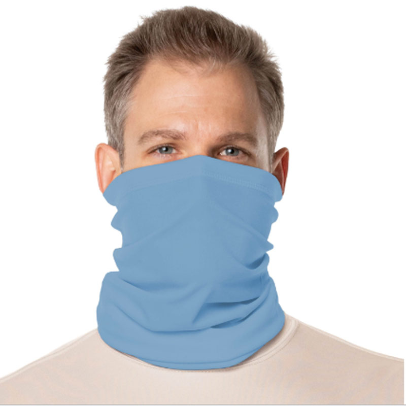 Vapor® Solar™ Fabric Neck Gaiter Endless Face Mask - Columbia Blue - 9.25