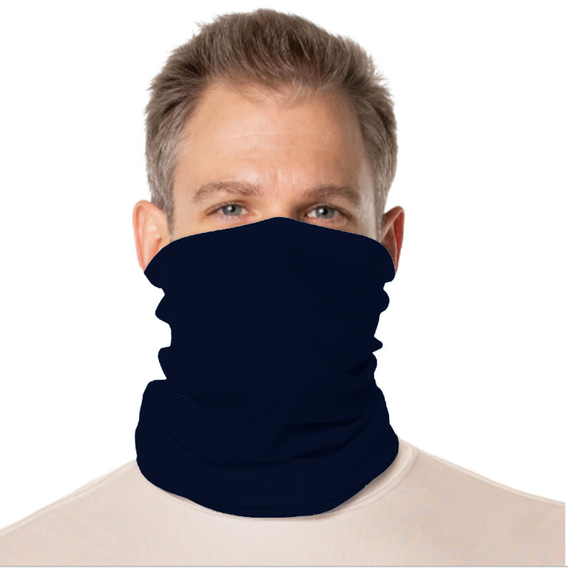 Vapor® Solar™ Fabric Neck Gaiter Endless Face Mask - Navy - 9.5