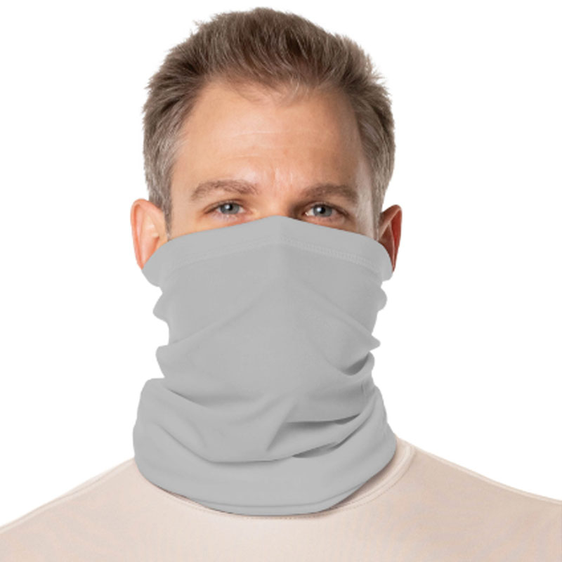 Vapor® Solar™ Fabric Neck Gaiter Endless Face Mask - Pearl Grey - 9.25