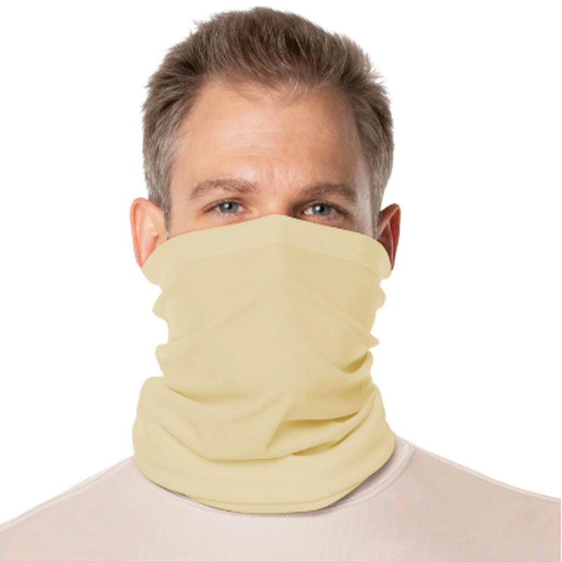 Vapor® Solar™ Fabric Neck Gaiter Endless Face Mask - Pale Yellow - 9.25