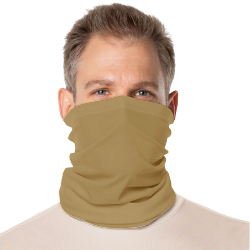 Vapor® Solar™ Fabric Neck Gaiter Endless Face Mask - Tan - 9.25 x 17.5